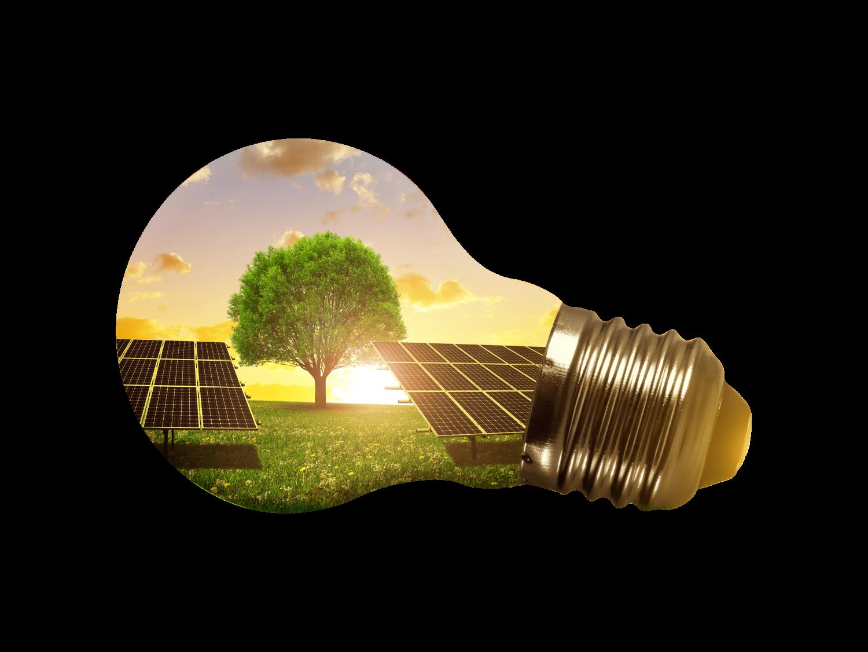 Električna energija iz okolju prijaznega obnovljivega vira.